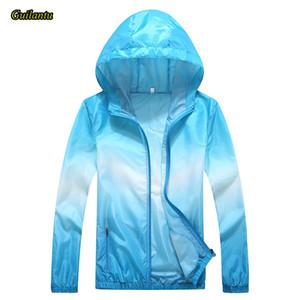 Guilantu 2020 Verano con capucha cazadora chaqueta de la capa de las mujeres de la cremallera Bolsillos tamaño 4XL Bombardero básico chaquetas Outwear Mujer
