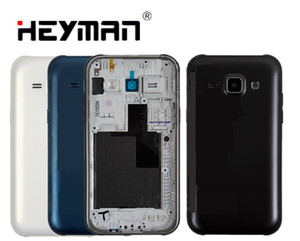 Pil Arka Kapak Için Samsung J100H / DS Galaxy J1 arka konut çerçeve tutucu çerçeve Arka Kapak kılıf kapı yedek parçaları
