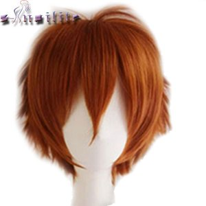 Hair Synthetic Wigs(For Black) S-noilite Short Wig Blue Brown Black Women Men Cosplay Costume Party Head Wigs Synthetic Hair