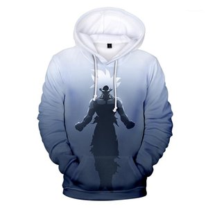 Mens Hoodies Winter 3D Printed Thick Long Sleeve Hooded Mens Sweatshirts Fashion Male Clothing Dragon Ball Designer