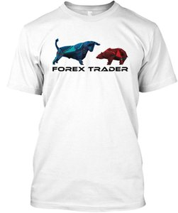 Awesome T Shirts Top Men Forex Trader O Neck Camiseta de manga corta