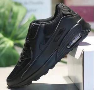 2019 Classic 90 Zapatos para correr para hombre Zapatillas para correr al aire libre Negro Blanco Deporte Shock Jogging Caminar Senderismo Deportes Zapatillas de deporte Atlético zapato