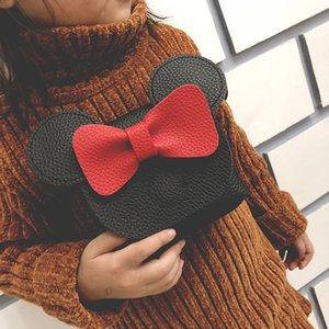 8 Стили Дети мультфильм слон сумки Девушка Bow Tie мешок плеча детей мини-мышь кошелек плеча Crossbody сумки GGA3460-4