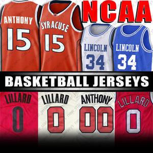NCAA Duke Blue Devils Colegio Sion 1 Williamson camiseta de Kyrie Irving jerseys Damian Lillard 0 Jersey Carmelo Anthony 00 CJ 3 McCollum