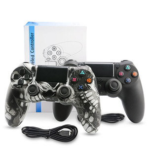 Controller wired per PS4 Vibration Joystick Gamepad PS4 controller di gioco per Sony Play Station privato Modello Gamepad cranio Ragazza con la casella