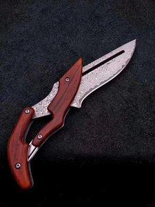 cuchillo de acero en frío BM Damasco plegado mecánico Benchmade cuchillo recto al aire libre bolsillo cuchillo cuchillos tácticos EDC supervivencia acampar BM 940