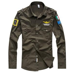 New Shirt One Shirt 남성 셔츠 남성용 긴 소매 코튼 화이트 Black Army Green 플러스 사이즈