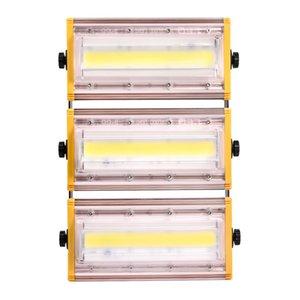 모듈 LED 투광 조명 50W 100W 150W 방수 IP65 야외 110V 투광 조명 따뜻한 / 화이트 LDE 조명 가든 야외 발코니 무대 Light 미사용 쿨