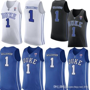Duke Blue Devils Jersey 1 Zion # Williamson Basketball Jerseys Mens University Blue Black Blanco Jersey Venta al por mayor