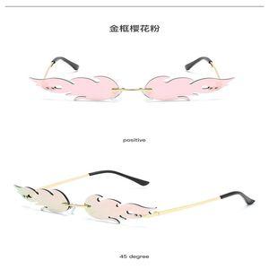 occhiali da sole Flame 2020 Arancione Rosso Fiamma di vetro di marca occhiali da sole donne Cat Eye Retro struttura del metallo Occhiali da sole Uomini Shades UV400 vDZX8
