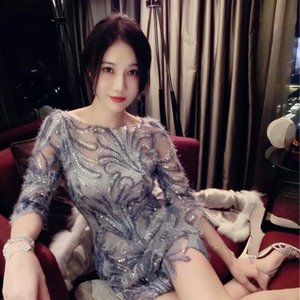 20200706 Lace beaded dress