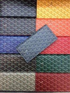 남여 체크 여권 홀더 bifold 지갑 폴더 패션 브랜드 디자이너 정품 가죽 최신 긴 지갑 클래식 브랜드 고야 정장