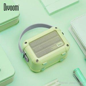 Новый Divoom макиато Bluetooth Wireless Speaker Матча Зеленый Радио металла на открытом воздухе портативный ручной музыкальный проигрыватель Сабвуфер