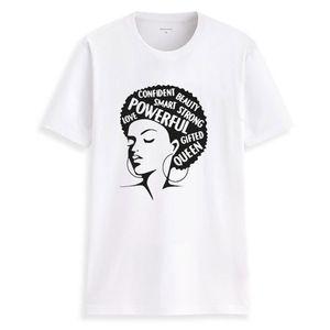 Septhydrogen Marca Lady shirt feminista Mulheres Tee Girl Power T-shirt Summer Fashion manga curta palavras inspiradoras Letters Printing Cotton Top