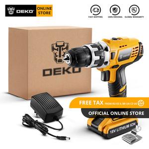 Originale Drill DEKO GCD18DU2 18V Cordless cacciavite elettrico agli ioni di litio Mini Power driver a velocità variabile LED Standard Set
