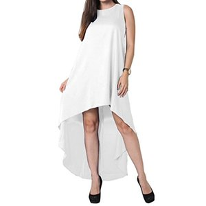 AOMEI Летний нерегулярный подол платья Сарафан для женщин Повседневные пляжные туники