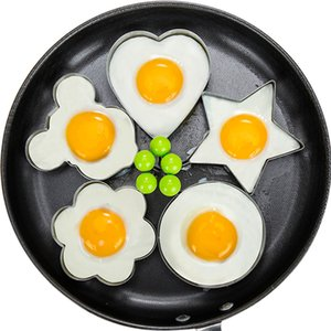 5PCS Kitchen Accessories Gadgets Tools Egg Mold Stainless Steel Fried Egg Shaper Pancake Mould Omelette Frying Egg Cooking Tools.