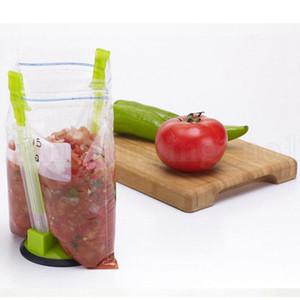 Mains Baggy Crémaillère en plastique Baggy Ouvre rack clip alimentaire sac de rangement Porte-machines-outils de cuisine de la OOA7078