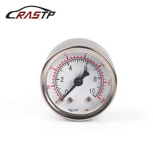 RASTP- 유니버설 1/8 NPT 연료 압력 게이지 액체 0-140 PSI 오일을 눌러 게이지 연료 게이지 화이트 페이스 RS-CAP012