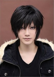 Beauty Men S Short Straight Wig Cosplay Costume Wig Black Wig Fashion Boys Full Synthetic Wigs Cap