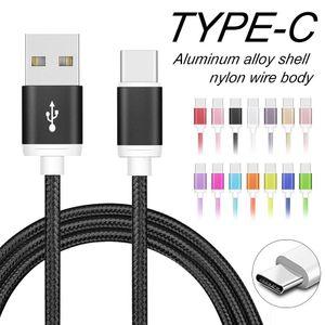 Metallgehäuse Braid USB C Typ C Ladekabel 2A High Speed Mirco USB Core-Adapter für Samsung LG Huawei Android Phones ohne Package