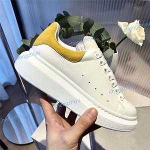 2020 Cuero Negro Blanco Zapatos ocasionales atan para arriba Blanco Terciopelo azul zapatillas de deporte para mujer para hombre extremadamente durable Tamaño de estabilidad zapatillas de deporte con la caja 35-46