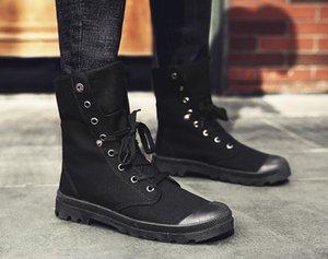 Большого размера Британского Мартин сапоги дышащих холсты сапоги высокие верхние пустынные ботинки могут быть использованы во всех сезонах спортивных ботинок