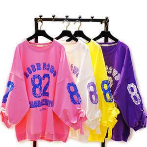 Young boys girls clothes teenager girl high school students Casual Numbers letters T-shirt Sweater Hoodie fleeces Hoody Top Tee