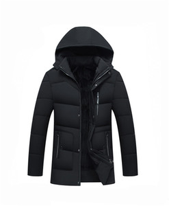 Herren New Hooded Designer Daunenjacken Winter Cotton Padded Outerwear Middle Aged Herren Jacke Herren Bekleidung