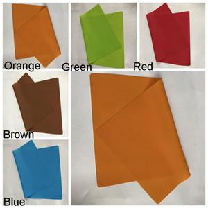 30 * 40CM cor sólida Silicone Placemat isolamento espessamento portátil Ocidental Food Pad Crianças Folding Tabela animal Pet Mat BH1947 CJT