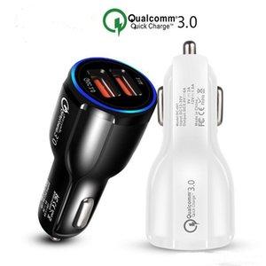 Автомобильное зарядное устройство USB Quick Charge 3.0 Зарядное устройство для мобильного телефона 2 порта USB быстрое автомобильное зарядное устройство для iPhone Samsung Автомобильное зарядное устройство для планшета