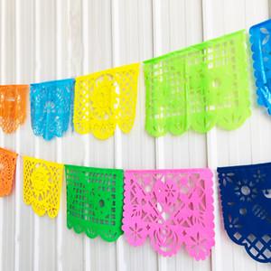 Пластиковые Pull Флаг Партия Квадратный Кулон Гирлянда Тяговые Карнавальные Вечеринки Multi Styles Цветные Флаги Новое Прибытие 15 8sq L1