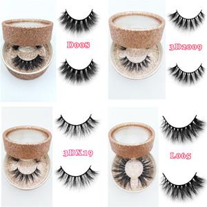 logo privada Mink pestañas 3D Mink Pestañas de pelo al por mayor 100% de visón Real pelo hechas a mano Crossing gruesas pestañas Lash 11 estilos nueva llegada