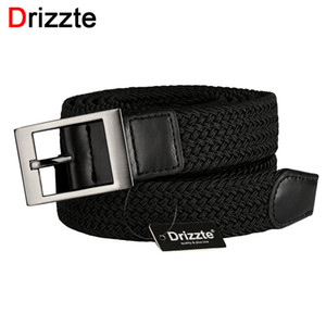 Drizzte Plus Size 130-180cm 190 centímetros 63 '' 67 '' 71 '' Long Black Braid Elastic estiramento Belt Mens fivela de metal para Big and Tall Man Y200520