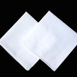 Partido 34cm Pañuelo 100% algodón satinado tabla masculina Remolcadores Plaza Pañuelo más blanca 34cm regalo de Navidad Hombres textiles para el hogar LXL650