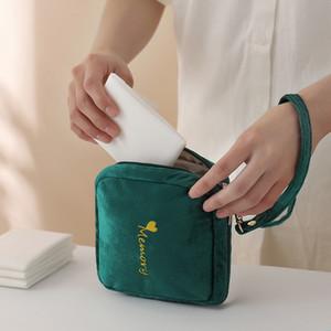 Sac cosmétique velours ZUOFILY portable multifonctions Sacs de maquillage Femme de stockage Make Up Case Mini femmes Sac étanche sanitaire