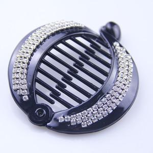 Hair Claws Clip Fish Shape Banana Barrettes Black With Stones Hairpins Hair Accessories For Women Hair Clip Clamp ACC70