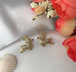 S925 silver needle fawn earrings female design sense web celebrity 2020 new style personalized earrings lovely elk earrings