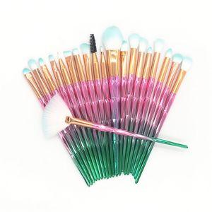 Pinceaux de maquillage diamant 3D set kits de poudre face à l'oeil oeil chat batch coloré brosse beauté cosmétiques 36