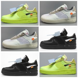 Nike air force 1 Flyknit Utility off white 2020 homens clássicos e mulheres flyline correndo esportes skate shoes uma geração high low-cut preto e branco ao ar livre sapatos hig