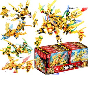 4 в 1 горячий Фантом летающий дракон для ниндзя собраны строительные блоки подходят Золотой дракон детские игрушки подарочные блоки головоломки игрушки