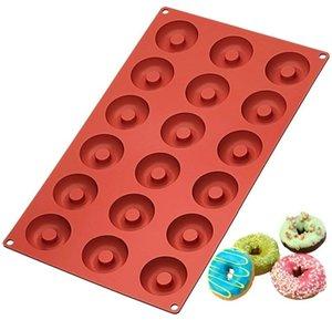 Donut cioccolato stampo Stampo antiaderente Donut silicone creatore di sicurezza muffa di cottura per le piccole ciambelle cuocere i biscotti Strumenti HHA677