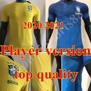 versión del jugador Copa América 2020 Brasil camiseta de fútbol NEYMAR JR camiseta de fútbol t P.COUTINHO uniforme camisa Brasil hogar lejos 20 21 Feminina