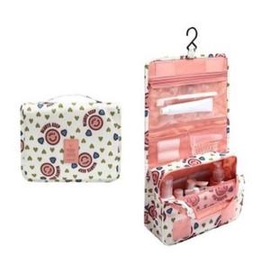 매달려 여행 화장품 가방 여자 지퍼 가방을 확인하십시오 폴리 에스터 높은 용량 메이크업 케이스 핸드백 주최자 저장 목욕 가방을 씻으 DLH086