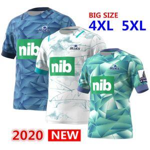 Горячие продажи 2020 блюз Primeblue Супер Регби Away Джерси 2020 Новая Зеландия дома регби Трикотажные рубашки синий регби Джерси 5xl