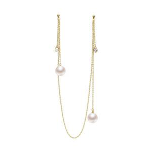 2019 Nuova collana integrata appesa collo lungo orecchini perla artificiale J190630