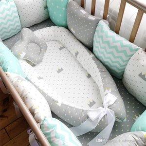 80 * 50 centímetros do bebê Ninho cama portátil Viagem Berço Cama infantil da criança berço de algodão para bebê recém-nascido Bed berço Bumper