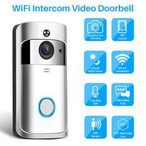 transporte vídeo porteiro Wireless vídeo Doorbells Camera IP 720P Two Way Áudio Night Vision Infrared APP Controle Via Smartphone Epacket