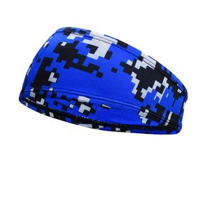 Breathable Camm Außenstirnband Fitness Kopfbedeckung Kopftuch Sport Stirnband Bandana Yoga Gym dehnbar Schweißband LJJA4020