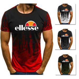 Ellesse Marque Hommes Designer 100% coton T-shirts Blanc Gris Rouge Vert Haut de la mode de haute qualité T-shirt à manches courtes oversize S-XXXL